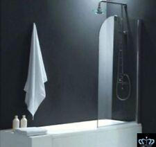 Duschwand, Badewannenduschwand, Duschabtrennung Glaswand Glasduschwand  Alu 1tlg