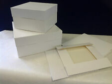 BULK PRICE pack of 10 x 10 inch square standard 2 piece white cake boxes