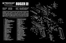 Ruger SR40  SR-40 Armorers Gun Cleaning Bench Mat Exploded View Schematic NEW !