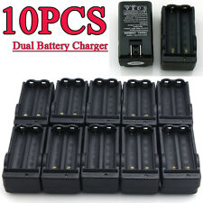 10PC Dual Battery Charger Use For 18650 4.2v Rechargeable Li-ion BRC Battery USA