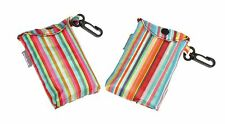 Stripe Design Eco Fold Up Shopping Bag For Life Clip Attachment - ONE AT RANDOM