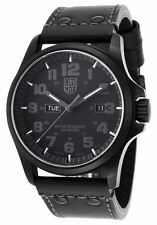 Luminox Authentic 1921-BO Atacama Blackout Genuine Leather Bright Night Vision !