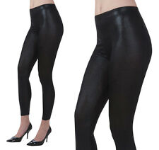 Ladies Shiny Black Leggings Fancy Dress Costume Accessory Sandy D UK 10-14
