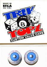 Trick Top Schrader Valve Caps / Blue Eyes NEW!