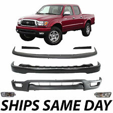 New Complete Steel Front Bumper Combo Kit W/ Fog Lights 2001-2004 Toyota Tacoma