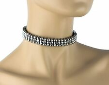Silver Studded Cyber Goth Punk Premium Leather Choker.
