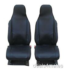 FRONT BLACK BLACK FABRIC SEAT COVERS 1+1 FOR OPEL VAUXHALL COMBO VIVARO MOVANO