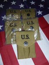 Porte-chargeurs double en toile O.D, pour COLT 45 1911 WW2 USA refabrication