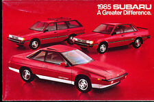 1985 Subaru XT Brat Turbo RX GL Wagon Original Car Sales Brochure