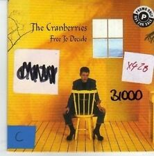 (CO844) The Cranberries, Free To Decide - 1996 DJ CD