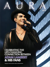 "NOW JUST US$10 Adam Lambert Tribute Mag ""AURA"" 2013 9x12 140p stories art photos"