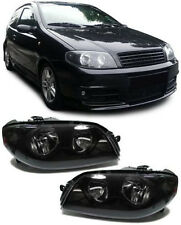 BLACK SMOKED HEADLIGHTS HEADLAMPS FOR FIAT PUNTO 7/2003 - 8/2005 NICE GIFT