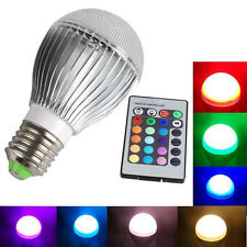 E27 LED RGB Color Magic Light Bulb 16 Colors Changing 9W With Wireless Remote