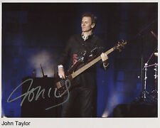 John Taylor Duran Duran Signed 8 x 10 Photo Genuine In Person
