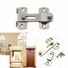 New Stainless Steel Home Safety Gate Door Bolt Latch Slide Lock Hardware+ScrewHU