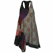 ETRO racer back embroidered patchwork asymmetrical a-line mini dress 40-IT/4-US