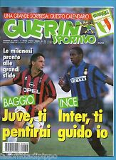 GUERIN SPORTIVO-1995 n.32/33- BAGGIO-INCE-SEEDORF-KAREMBEU -POSTER R.BAGGIO