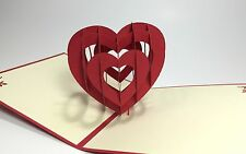 Pop Up Heart. Handmade 3D Romantic Love/Proposal/Wedding/Anniversary Pop Up Card