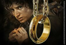 LORD OF THE RING ONE RING REPLICA FROM NOBLE COLLECTION (GOLD PLATED) OFFICIAL