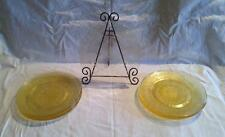 "9-1/2"" Round Dinner Plates Hocking CAMEO Yellow Depression Glass"