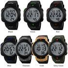 2016 Waterproof Men's Boy LCD Digital Stopwatch Date Rubber Sport Wrist Watch M5