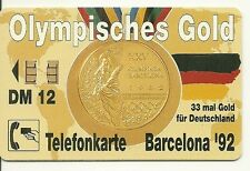 RARE / CARTE TELEPHONIQUE - JEUX OLYMPIQUES OLYMPIC GAME MEDAILLE D' OR GOLD