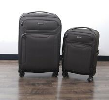 "Samsonite Ultralite Extreme 2 Piece Spinner Luggage Suitcase Set 21"" 27"" Silver"