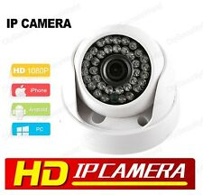 Indoor HD IP Dome Camera, 1080P Onvif 3.6mm Wide Angle Lens 36IR LEDS 12VDC