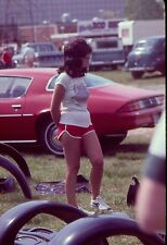 Lot of 3 1978 Slide/Transparencies Pretty Sexy Girls in Hot Pants at car show