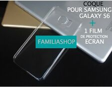 case cover wallet Case rigid transparent crystal samsung galaxy S6 + Film