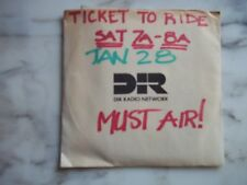 The Beatles - TICKET TO RIDE - RADIO SHOW - 1989  Rare EX