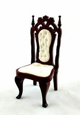 Dolls House Miniature Furniture Victorian Mahogany Ornate Side Dining Chair