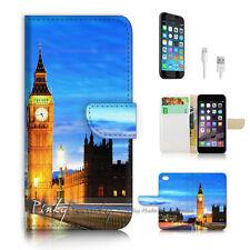 iPhone 6 6S Plus (5.5') Flip Wallet Case Cover P2318 London Tower