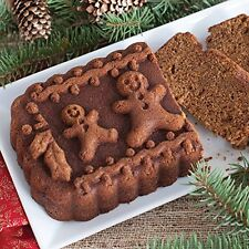 NEW NORDIC WARE GINGERBREAD FAMILY LOAF BUNDT PAN JELLO MOLD CHRISTMAS HOLIDAY