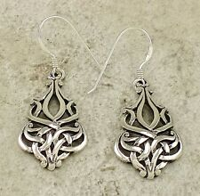UNIQUE .925 STERLING SILVER CELTIC KNOT EARRINGS  style# e1011