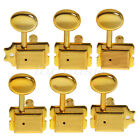 Gold 6R Inline Vintage Tuning Pegs Tuners Machine Heads For Fender Strat Guitar