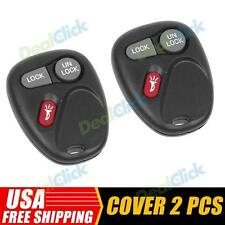 2 New Fob Replace Keyless Entry 3 Buttons for 99 00 01 Chevrolet Silverado 3500