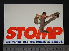 STOMP SEE WHAT ALL THE NOISE IS ABOUT! ADVERT