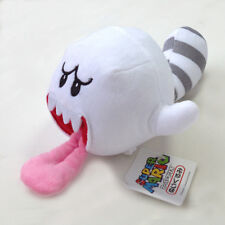 Super Mario Bros 3D Land Plush Tanooki Tail Boo Ghost Soft Toy Stuffed Animal 5""