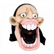 Big Open Mouth Exposed Teeth Adult Costume Funny Character Mask