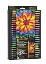 Chameleon Artist Quality Double Ended COLORED PENCIL SET -25ct, 50Colors ~PE2501