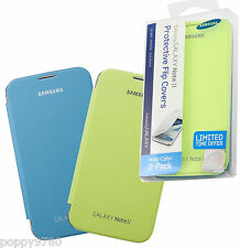 NEW Samsung Galaxy Note 2 Flip Cover Case 2-Pack Bundle Light Blue / Lime Green