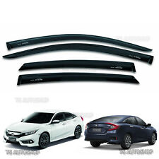 FOR HONDA CIVIC SEDAN FB6 2016 2017 BLACK VISOR WEATHER GUARDS 4DR WINDSHIELD