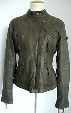 STAY TRUE U.S.A LEATHER JACKET Bikerjacke Damen Lederjacke Gr.38 NEU mit ETIKETT