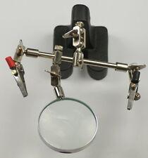 Tercera Mano Vidrio Lupa Ajustable Modelo Ideal Para Soldar Bisutería