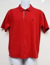 Burberry auth s / manches courtes Polo Top Designer L grand rouge nova check trim patte de boutonnage
