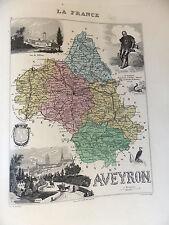 LA FRANCE ET SES COLONIES DEPARTEMENT DE L'AVEYRON VOIR DESCRIPTIF