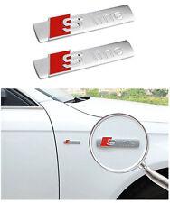 S-Line Sline Logo Emblem Schriftzug 2 Stück für Audi Q3 Q5 A3 A4 A5 S3 TT Q7