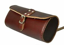 New Leather Tool Bag for most bikes seats Handlebars cycling bike bags Cherry