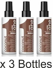 3 X UNIQ 1 with Coconut fragrance BY REVLON The all in One Hair Treatment 150ml